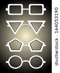glasses and sunglasses... | Shutterstock . vector #164053190