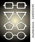 glasses and sunglasses... | Shutterstock . vector #164053190