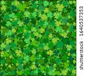 st. patrick's day background in ... | Shutterstock . vector #1640537353