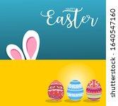 happy easter festival   easter...   Shutterstock .eps vector #1640547160