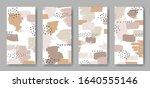 set of four vertical banners... | Shutterstock .eps vector #1640555146