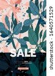 delicate pale vector summer... | Shutterstock .eps vector #1640571529