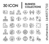 30 set collections business... | Shutterstock .eps vector #1640571733