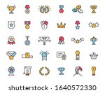 set of linear trophy icons....   Shutterstock .eps vector #1640572330