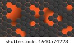 black futuristic abstract... | Shutterstock .eps vector #1640574223
