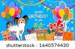 happy birthday to you banner.... | Shutterstock . vector #1640574430