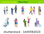 isometric casual people flat... | Shutterstock .eps vector #1640582023