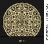 luxury ornamental mandala... | Shutterstock .eps vector #1640597659