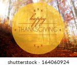 happy thanksgiving autumn...   Shutterstock . vector #164060924