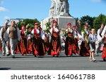 riga  latvia   july 06  people... | Shutterstock . vector #164061788