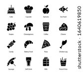 food and drinks glyph icons  ...