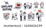 online dating big set. dating... | Shutterstock .eps vector #1640626159