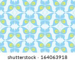 blue butterfly pattern design  | Shutterstock .eps vector #164063918