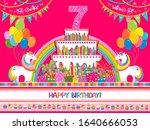 happy birthday  greeting card.... | Shutterstock . vector #1640666053