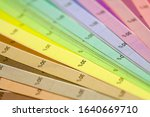 Small photo of Color print of an offset scale.