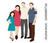 silhouette family  flat style  ... | Shutterstock .eps vector #1640684716
