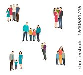 silhouette of a group of people | Shutterstock .eps vector #1640684746