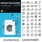 laundry vector icons  set of...   Shutterstock .eps vector #1640694889