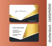 business card template with... | Shutterstock .eps vector #1640696500