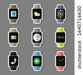 stickers set of simple smart...   Shutterstock . vector #1640716630