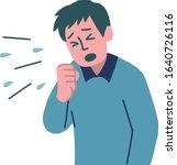 sick man sneeze  cough virus... | Shutterstock .eps vector #1640726116