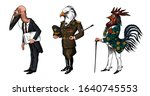 bird man  bald eagle and... | Shutterstock .eps vector #1640745553