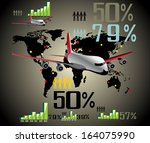 infographic travel elements.  | Shutterstock . vector #164075990