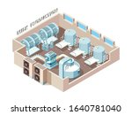 dairy food factory. automation... | Shutterstock .eps vector #1640781040