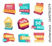 half price badges. advertizing...   Shutterstock .eps vector #1640781079