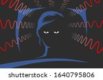 woman is lying on bed at deep... | Shutterstock .eps vector #1640795806