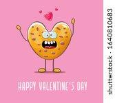 vector funny hand drawn... | Shutterstock .eps vector #1640810683