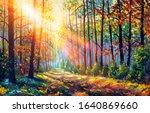 Oil Painting. Amazing Autumn...