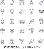 line icons set. circus pack.... | Shutterstock .eps vector #1640894740