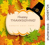 thanksgiving card  | Shutterstock .eps vector #164089724