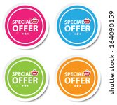special offer colorful stickers ... | Shutterstock . vector #164090159