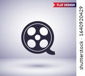 play button vector icon in...