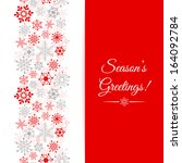 christmas greetings card.... | Shutterstock .eps vector #164092784