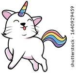cute caticorn cartoon animal... | Shutterstock .eps vector #1640929459
