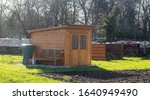 Garden Shed With Rain Barrel In ...