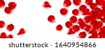 vector red rose petals isolated ... | Shutterstock .eps vector #1640954866