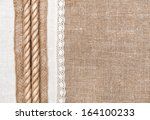 Burlap Background  Rope And...