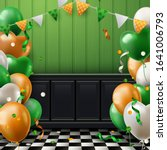 st. patrick's day background... | Shutterstock .eps vector #1641006793