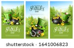 st. patrick's day headers or... | Shutterstock .eps vector #1641006823