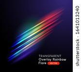 overlay transparent rainbow... | Shutterstock .eps vector #1641013240