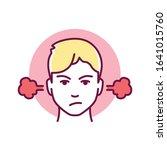 self control color line icon....