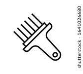 brush line art vector icon   ui ...