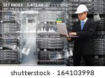 engineering in data center room | Shutterstock . vector #164103998