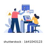 a team of business people who... | Shutterstock .eps vector #1641043123