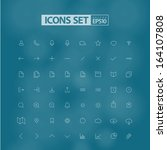 set of web or mobile ui icons ...