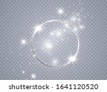 round shiny frame background.... | Shutterstock .eps vector #1641120520